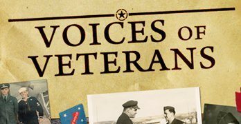 Friday through Monday: Voices of Veterans Interviews