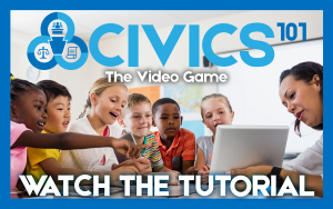 Civic 101 Game Tutorial Button