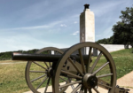 cannon and light memorial at gettysburg national military park
