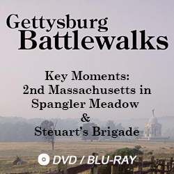 gettysburg battlewalks key moments: 2nd massachusetts in spangler meadow and steuart's brigade