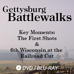 gettysburg battlewalks key moments: the first shots and 6th wisconsin at the railroad cut